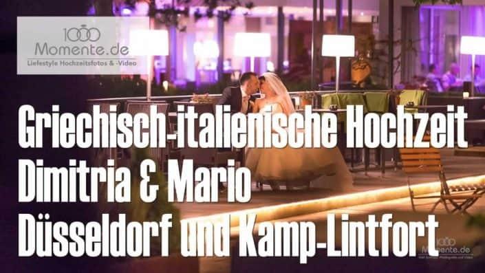 Griechisch-italienische Hochzeit Kamp-Lintfort