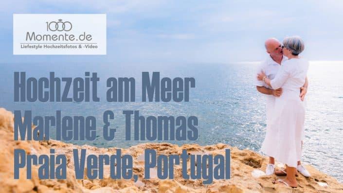 Hochzeit am Meer freie Trauung in Portugal