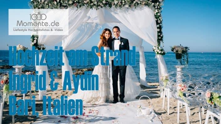 Hochzeit am Strand freie Trauung Bari Italien