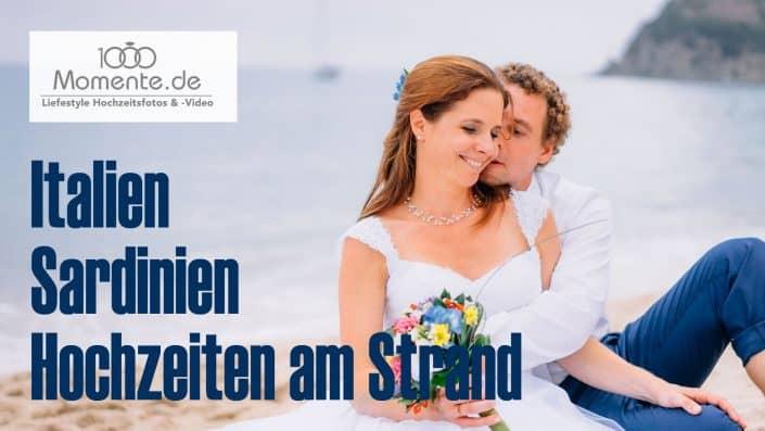 Hochzeiten am Strand, freie Trauung Sardinien, Italien