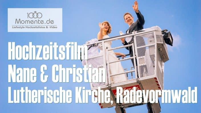Hochzeitsfilm kirchlichen Trauung Lutherische Kirche, Radevormwald
