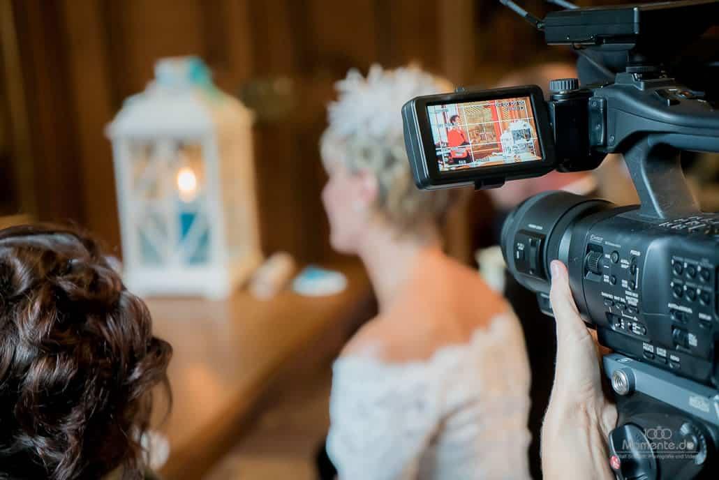Hochzeitsvideo bei einer Trauung
