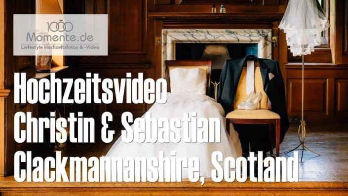 Hochzeitsvideo der standesamtliche Trauung im Gean House, Scotland