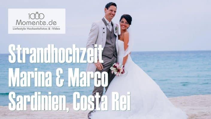 Strandhochzeit Sardinien Costa Rei deutsch-russische Hochzeit