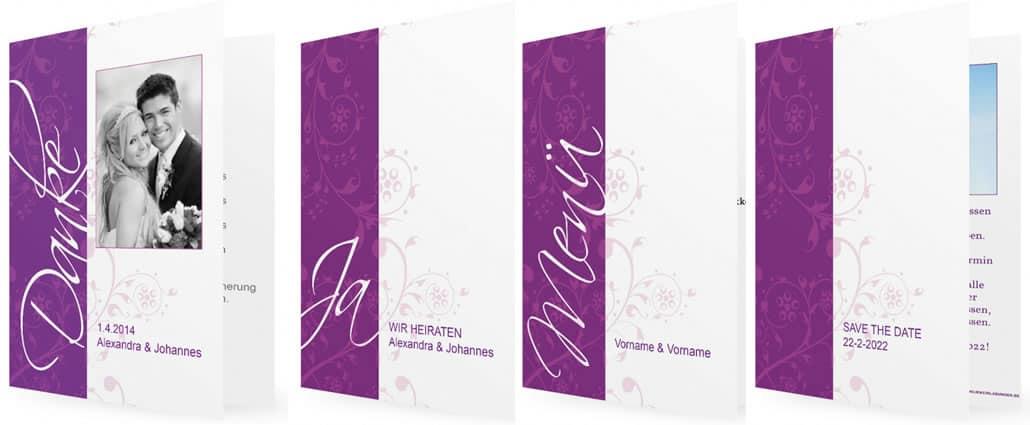 Hochzeit-Danksagungskarten