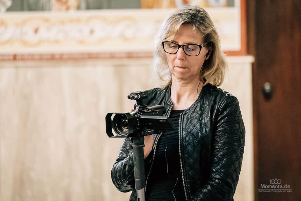 Hochzeitsvideo-NRW mit Hilde beim Dreh