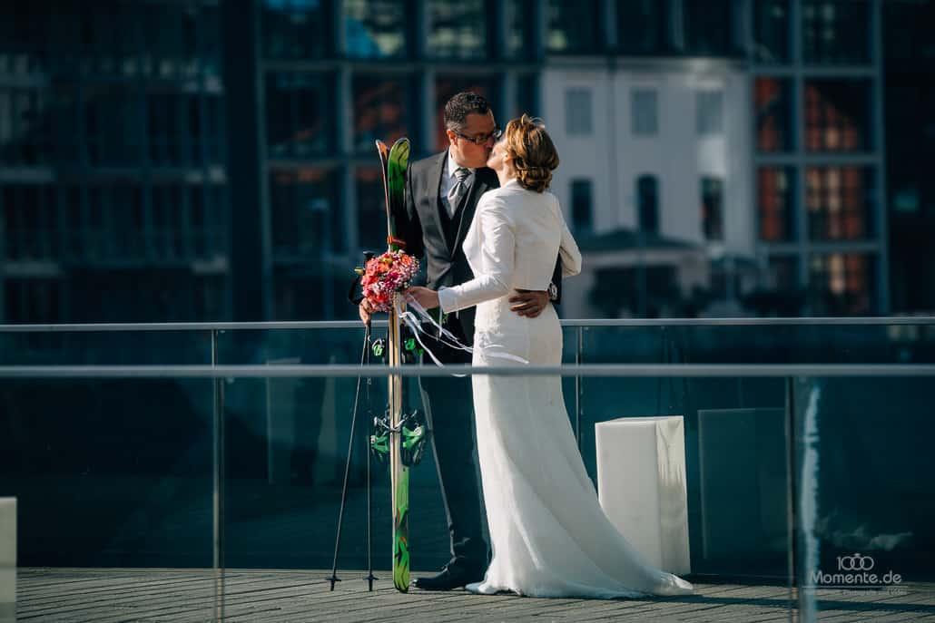 Brautpaarshooting Düsseldorf Hafen