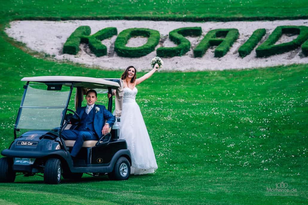 Golf Caddy bei einer Hochzeit im Kosaido Düsseldorf