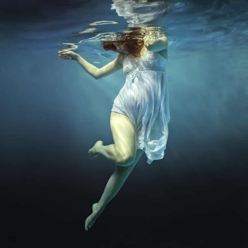 Babybauch Unterwasserfotografie