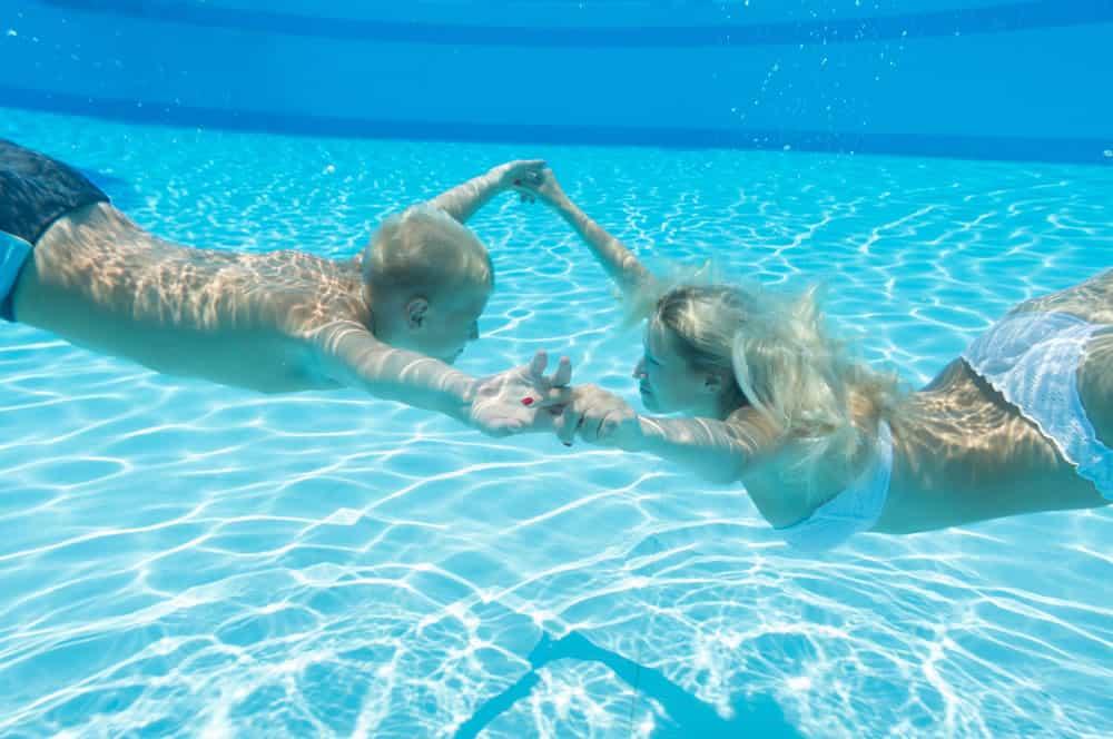 unterwasser paarfotos