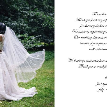 Danksagungskarte zur Hochzeit 3