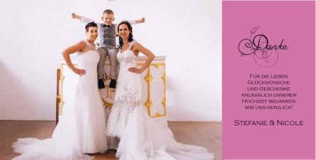 Danksagungskarte zur Hochzeit 4