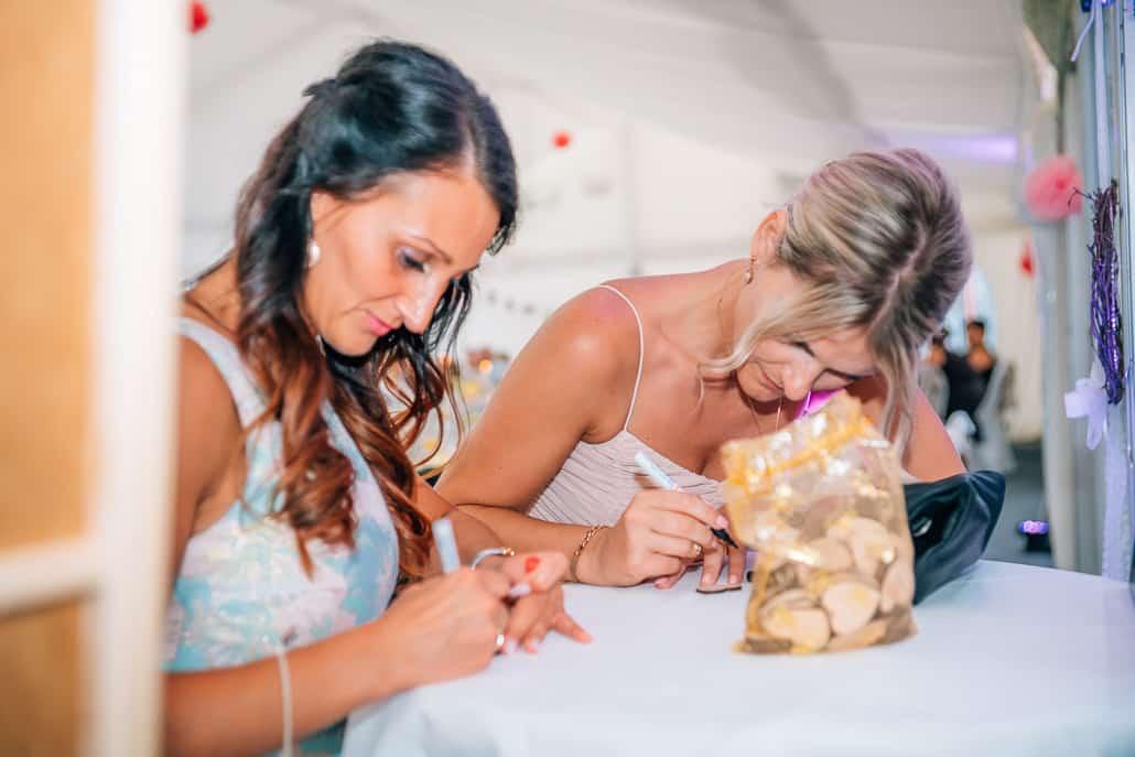 Bilderrahmen als Hochzeitsgästebuch
