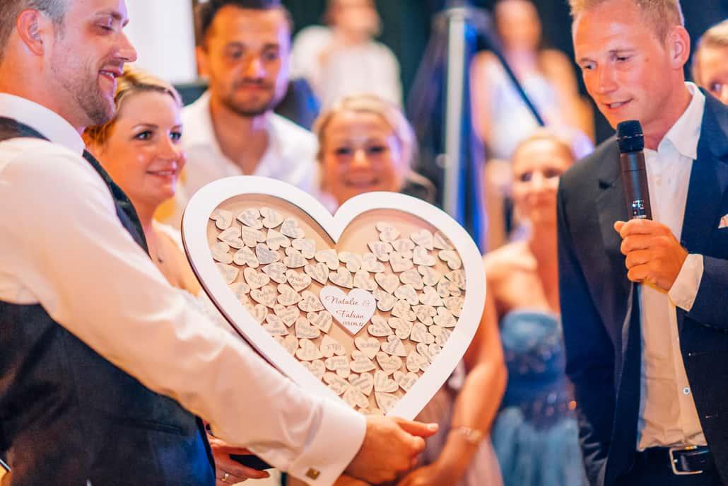 Bilderrahmen als Hochzeitsgästebuch | 1000Momente.de