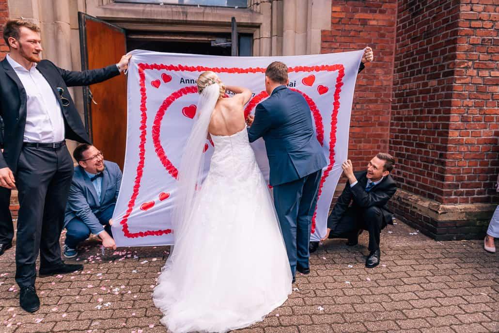 Hochzeitsherz zum Ausschneiden