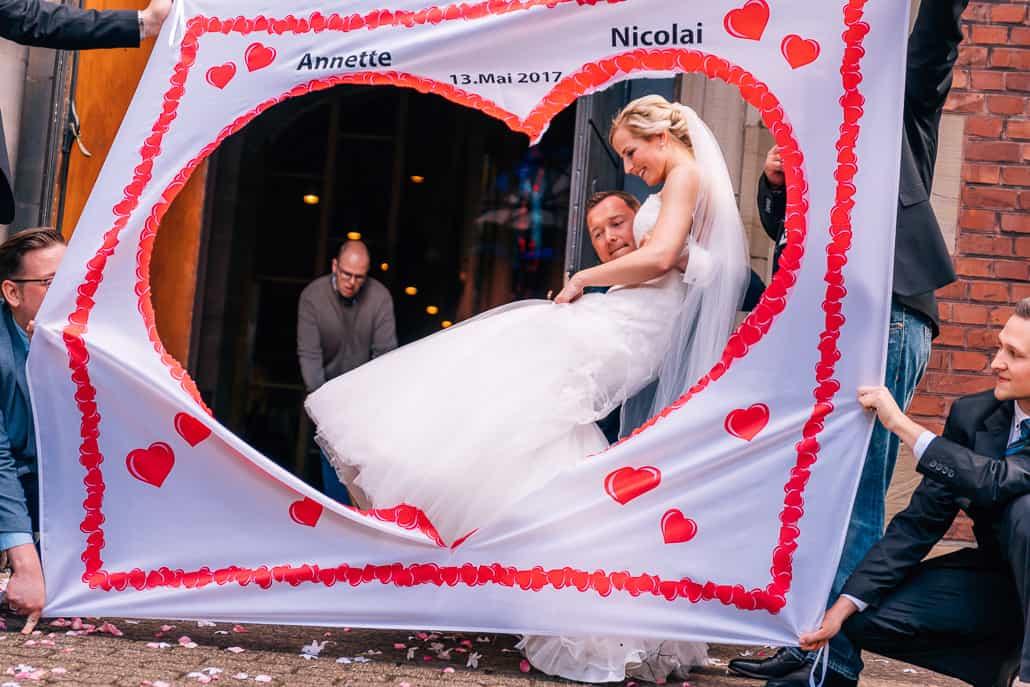 Hochzeitsherz zum Ausschneiden nach der Trauung