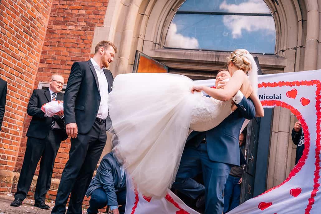 Hochzeitsherz als Bettlacken