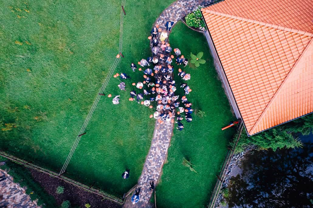 Hochzeit in der Kapelle vom Landgut am Hochwald in Sonsbeck