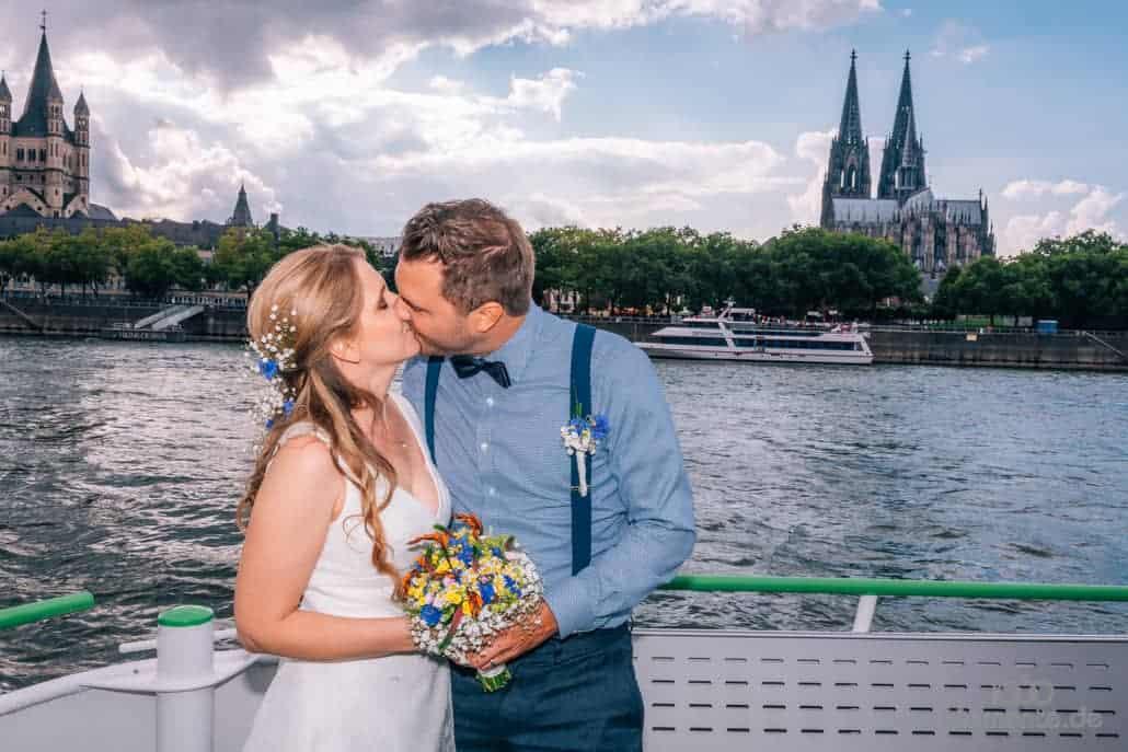 Heiraten auf dem Rhein in Köln