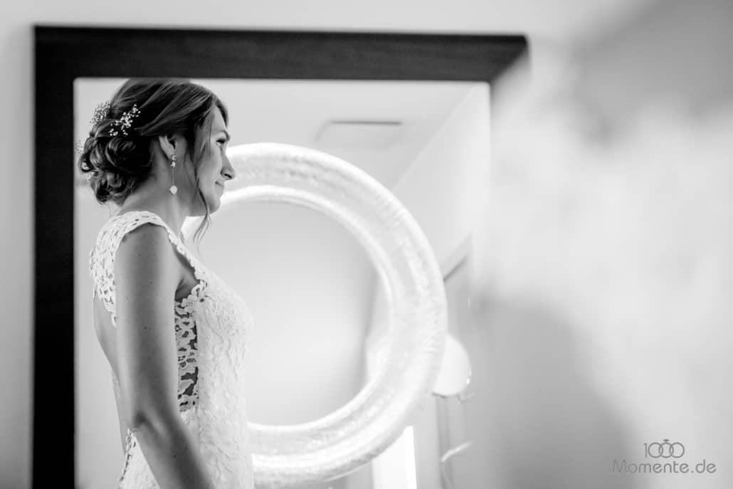Getting Ready der erste Blick im Spiegel