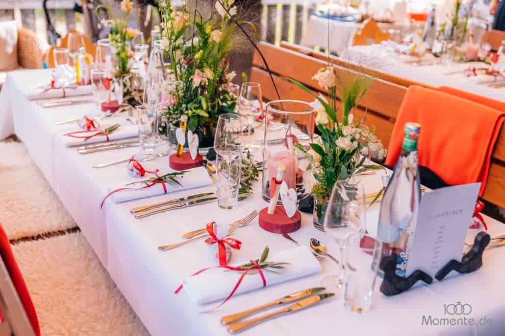 Hochzeitsdekoration Tischdekoration im Voshöfel