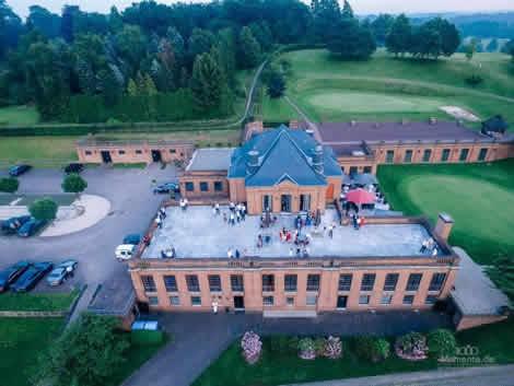 Luftaufnahmen mit Drohnen Hochzeit