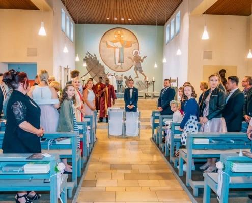 Vor der Kirchliche Trauung St. Peter Bottrop