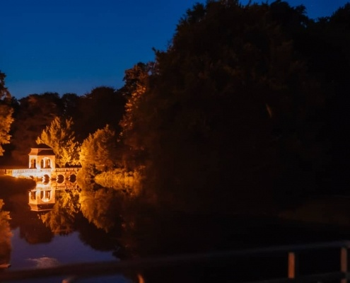 Nächtliches Paarshooting Schloss Dyck Jüchen